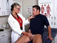 Doctor Marie gives her patient a treat he will never forget